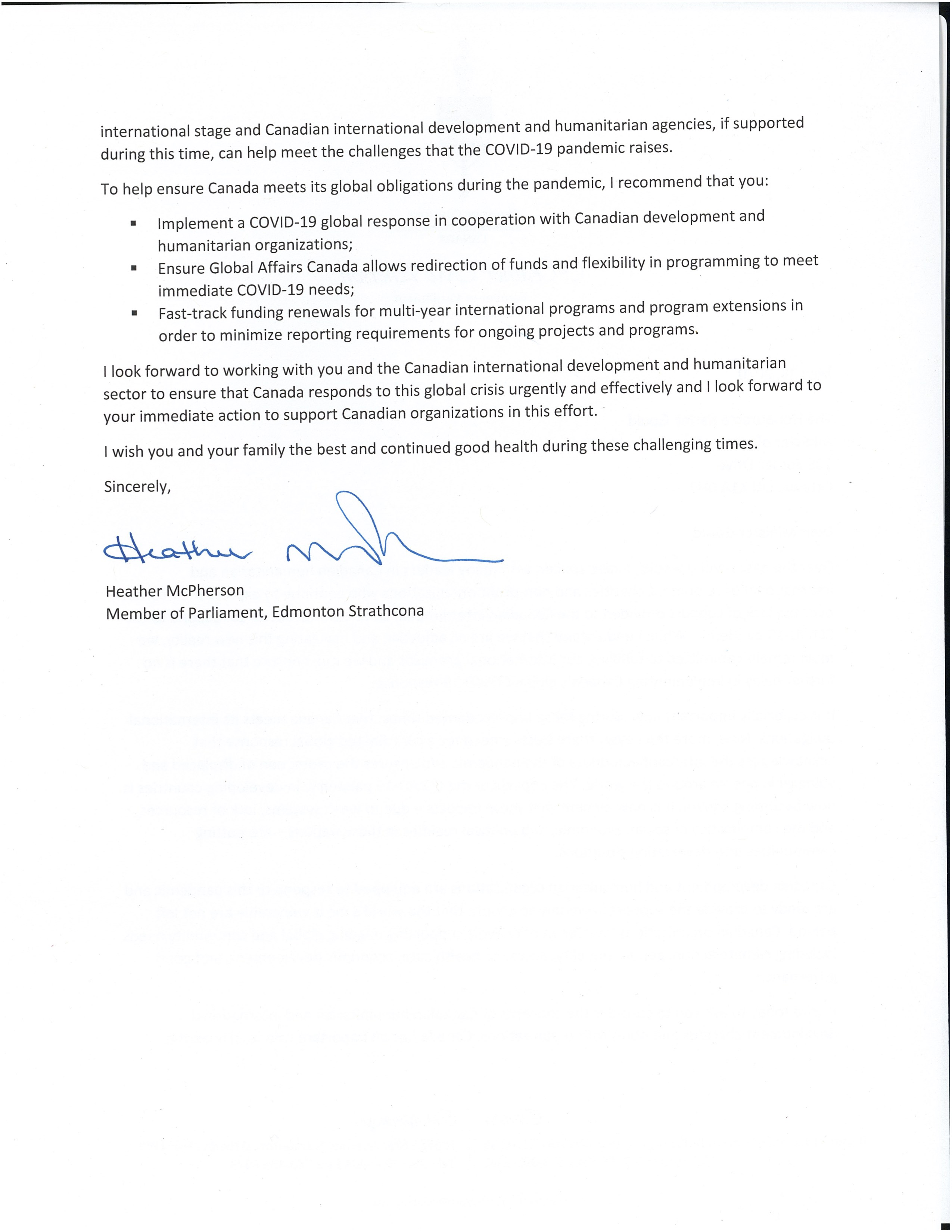Letter to Minister Gould Page 2