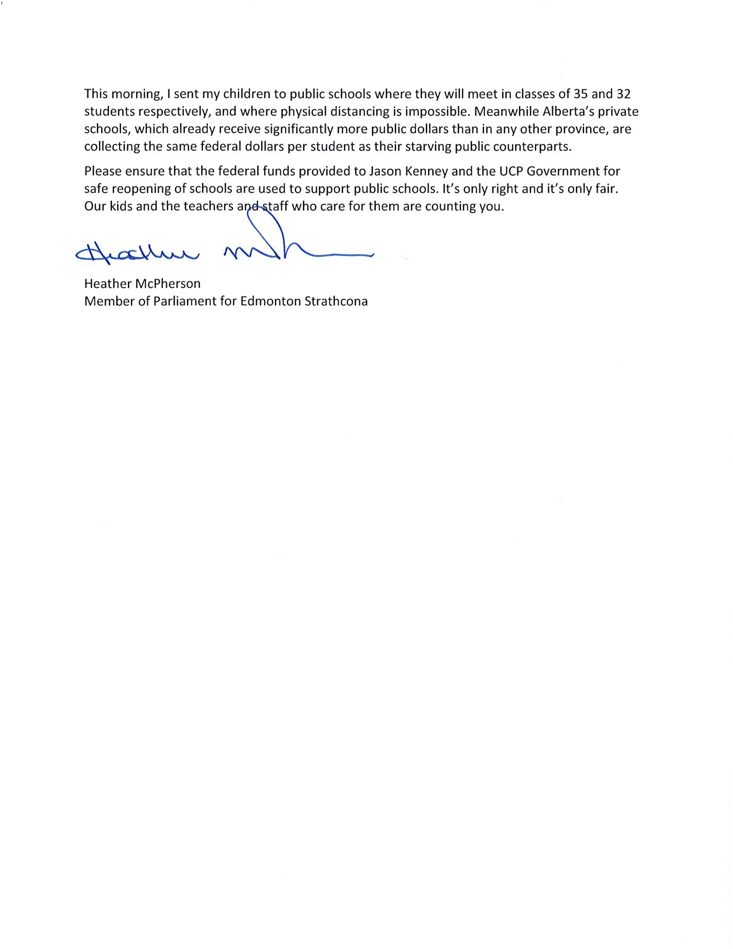 Letter to Prime Minister Trudeau Page 2