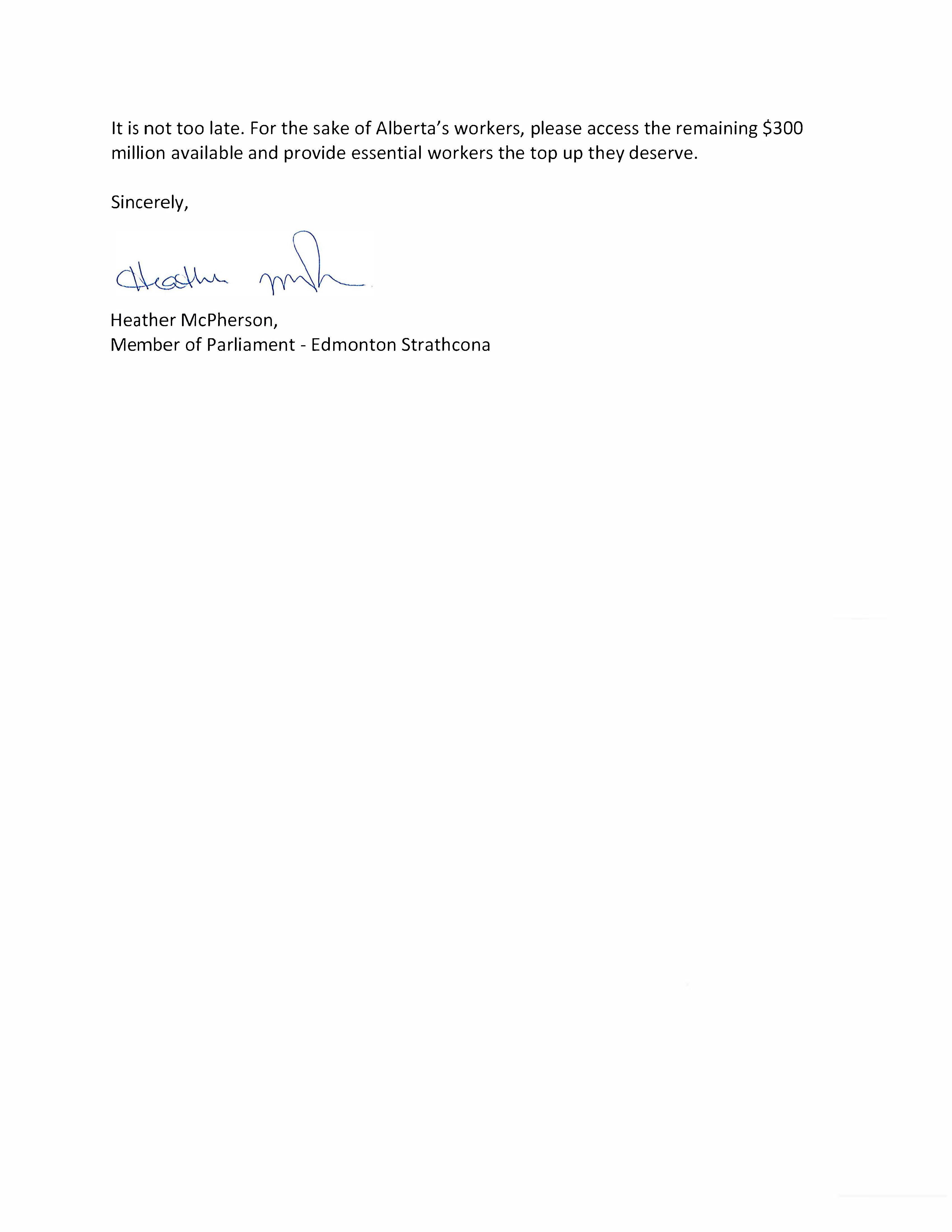 Letter to Premier Kenney Page 2