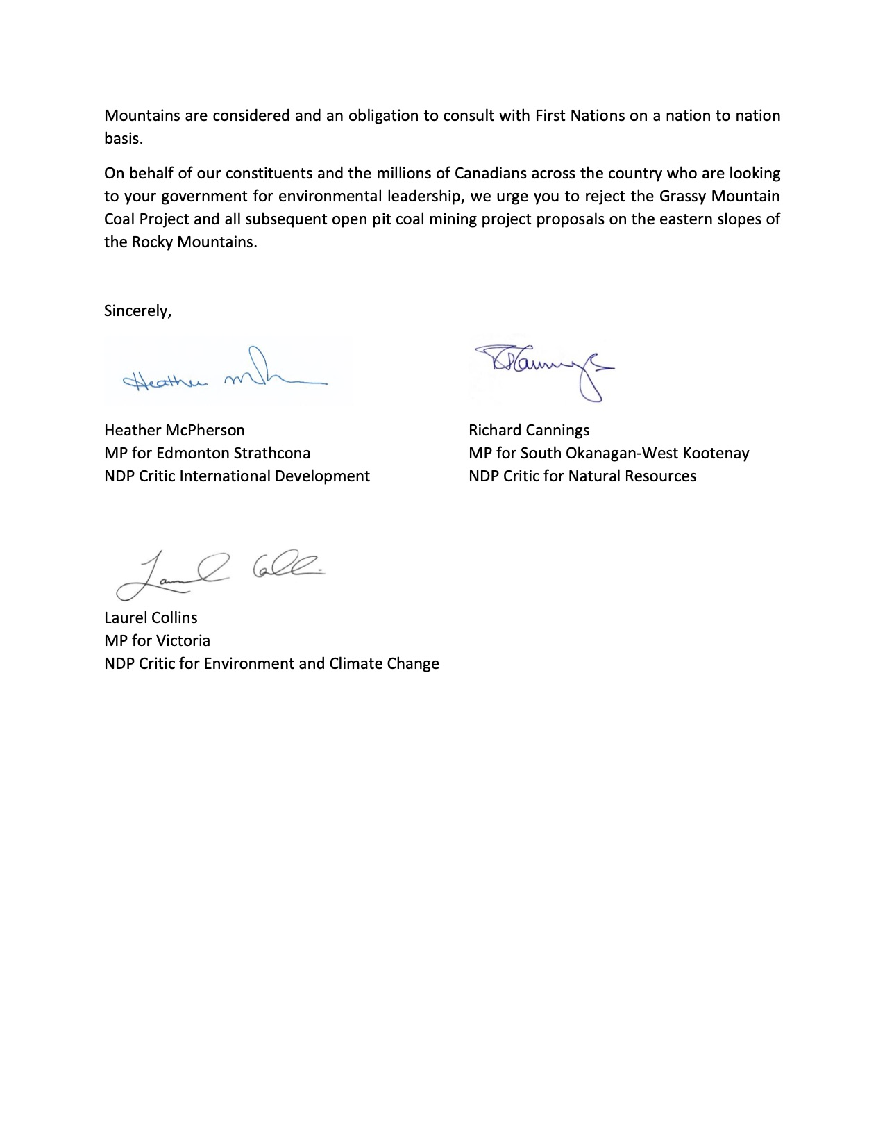 Letter to Minister Wilkinson, Page 3